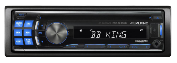 alpine cde 124sxm in dash single din cd mp3 wma receiver w usb rh ikesound com Alpine CDE 124SXM Remote Control Alpine CDE- 102