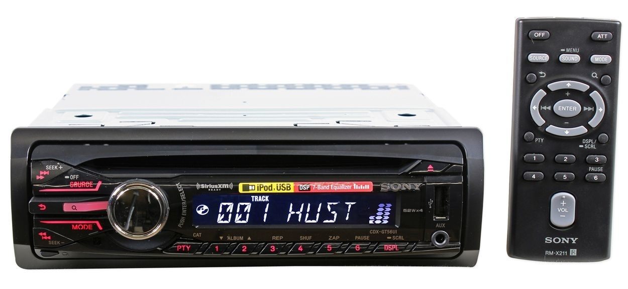 263 sony cdx gt56ui, in dash cd mp3 aac receiver w front usb, aux, 7 sony mp3 wma aac wiring diagram at soozxer.org